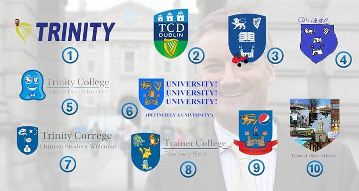 Conor Walsh Wins Prestigious Award For Best Alternative TCD Logo