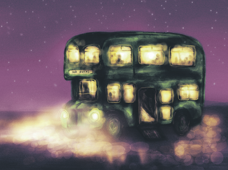 Night Bus Illustration