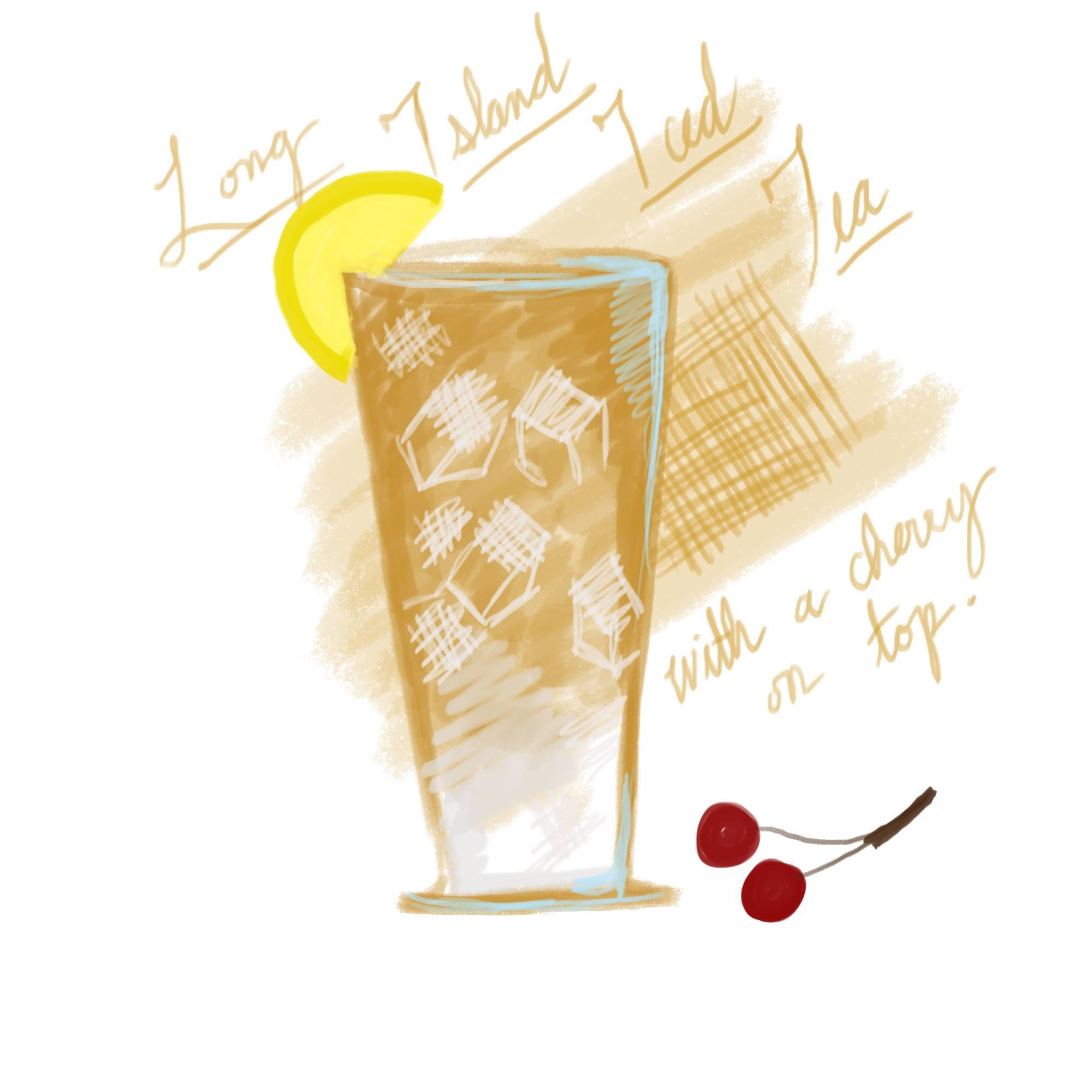 Long Island Iced Tea with a cherry on top